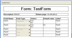 Filled user's form